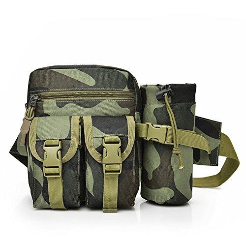 ASAKUSAIREN Messenger Bag Crossbody Shoulder Bag Multifunctional Canvas Bag Sling Bag Travel Purse (camouflage Waist Bag)