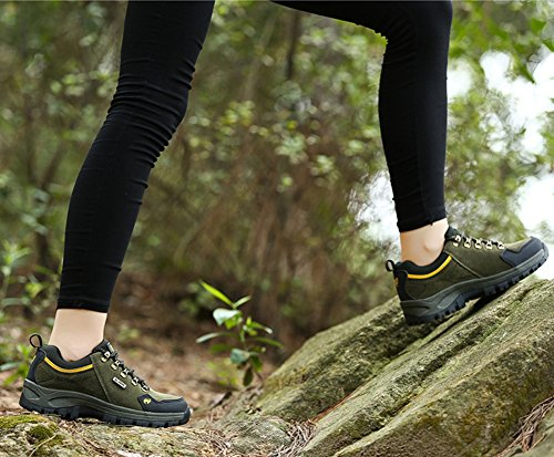 Yellow Sport Shoes Walking Breathable Spring Unisex Athletic Hunting Sneakers Outdoor Shoes Couple Climbing Minetom Green D Women Summer Men Shoes qIHw0z8