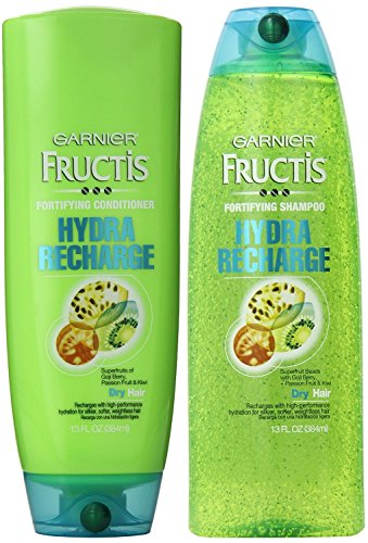 Garnier Shampoo And Conditioner (Garnier Fructis Hydra Recharge for Normal to Dry Hair, DUO Set Shampoo + Conditioner, 13 Ounce, 1)