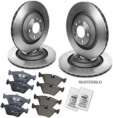 4x Bremsscheiben Bremsbel/äge Bremskl/ötze vorne hinten