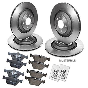 4x Bremsscheiben hinten Bremsbel/äge Bremskl/ötze vorne