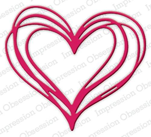 Scribble Heart - Scribble Heart Steel Die for Scrapbooking (DIE511T)