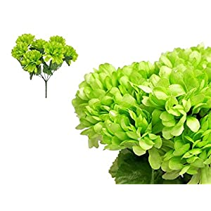 Tableclothsfactory 84 Chrysanthemum Mums Balls Artificial Wedding Flowers - Lime Green 62