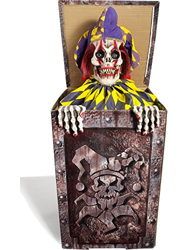 Forum Novelties Animatronic Prop Animated Jack in The Box for Party Decoration, Multicolor