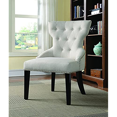 Coaster Home Furnishings 902238 Casual Accent Chair, Espresso/Cream