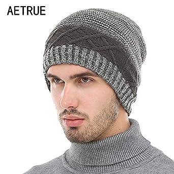 9beb09749 World 2 home AETRUE Winter Beanie Knit Hat Skullies Beanies Men Caps ...