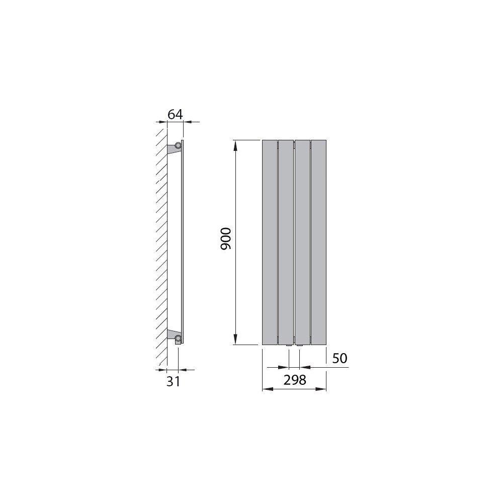 566 Watt nach EN442 Design Paneelheizk/örper Heizk/örper Badheizk/örper 120 x 45 mit Mittelanschluss