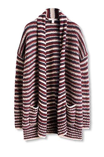 ESPRIT 116ee1i011, Chaqueta para Mujer Multicolor (bordeaux Red 5 604)