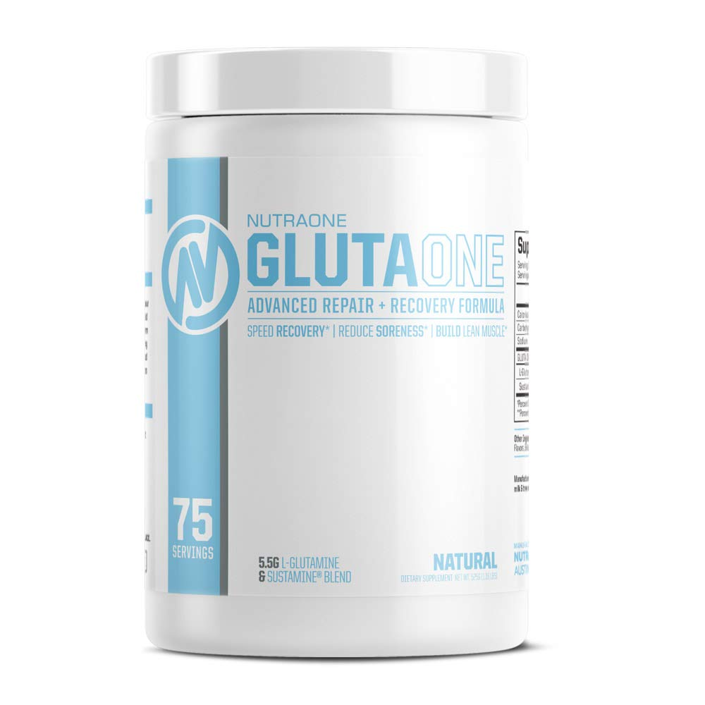GlutaOne L-Glutamine Powder by NutraOne - Post Workout Recovery Supplement (75 Servings) by NutraOne Nutrition