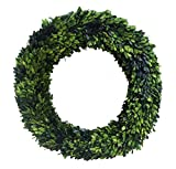 Mills Floral Boxwood Country Manor Round Wreath, 24-Inch