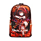 Rain's Pan Anime Date A Live Tokisaki Kurumi Oxford Laptop Bag Backpack