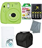 Fujifilm Instax Mini 9 Instant Camera – 6 Pack Bundle Lime Green (Small Image)