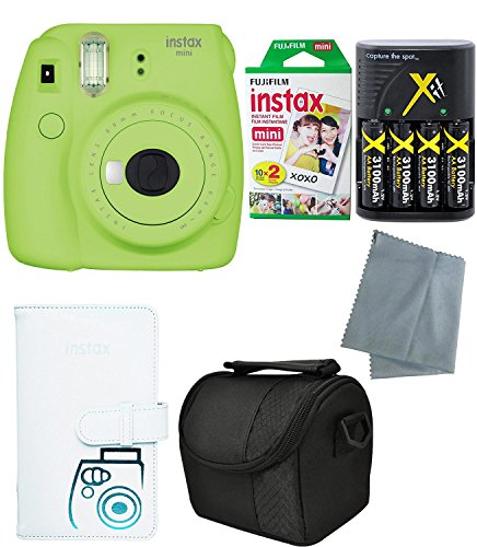 Fujifilm Instax Mini 9 Instant Camera – 6 Pack Bundle Lime Green (Large Image)
