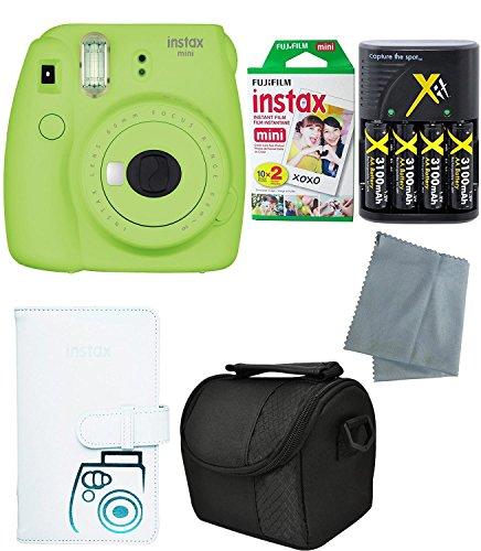Fujifilm Instax Mini 9 Instant Camera – 6 Pack Bundle Lime Green (Large Image)