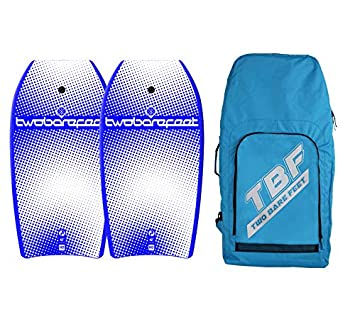 9a1f9adf0a Two Bare Feet 42in Bodyboard Bundle - 2 x Halftone Bodyboards + Bag (Blue  Blue