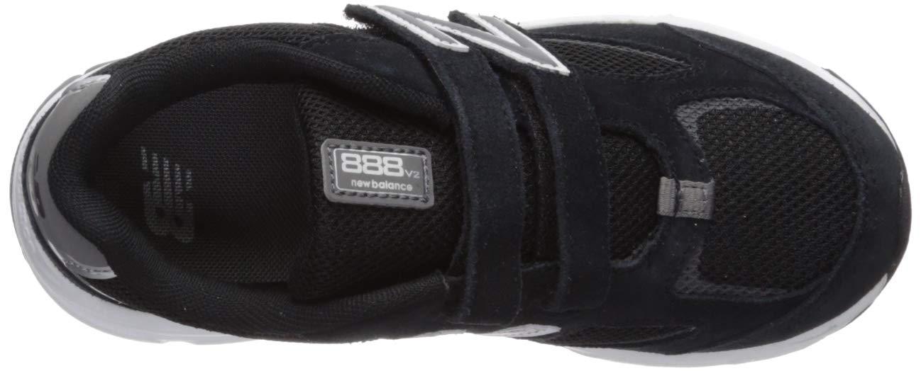 New Balance Boys' 888v2 Hook and Loop Running Shoe, Black/Grey, 2 XW US Infant by New Balance (Image #8)