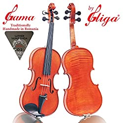 4/4 Full size Advanced 'GAMA' Model, a Gliga Violin Handmade in Romania, Concert Orchestra Level, Hand Varnished, Hand Inlaid Purfling, Hand Carved Solid European Wood, Ready-To-Play