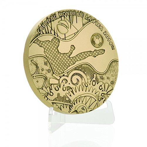 Medalla de bronce del mundo de fútbol FIFA 2014 oficial Moneda de París Monnaie de Paris