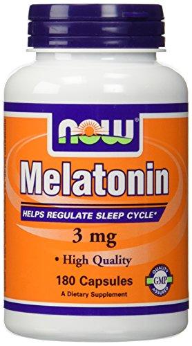 (2 X 180 ct) NOW Food Melatonin 3 mg 360 Capsules(180, Pack of 2)