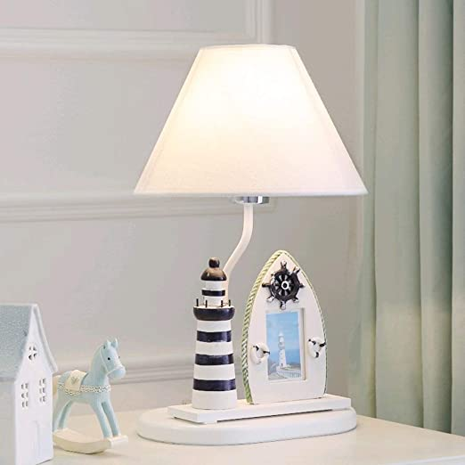 IVNGRI Lámpara de Mesa de Noche, lámpara de Escritorio de Resina ...