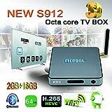 MECOOL BB2 Octa-core Android 6.0 OTT TV Box 8Core 64bit CPU 2GB RAM 16GB ROM 4K ULTBKHD H.265 HEVC Streaming Media Player/Internet TV Support 3D-HD Full HD 1080P With Kodi 17.0 Fully Loaded