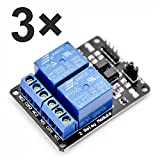 McIgIcM 3pcs 2 Channel DC 5V Relay Module for Arduino UNO R3 DSP ARM PIC AVR STM32 Raspberry Pi with Optocoupler Low Level Trigger Expansion Board