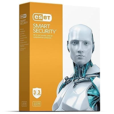 ESET Smart Security | 2016 | 3 PC's | 2.5 Years Subscription | PC | Keycard- No Disc