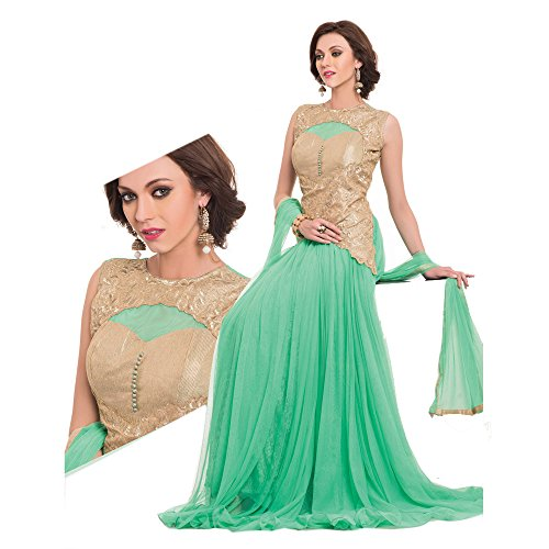 Sea Green Georgette Top (JAUNE Women's Classic Princess Gown X-Large Sea Green)