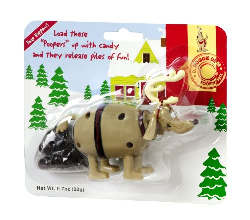 Pooping Reindeer Candy Dispenser - MSRF Poopin' Pets Candy, Doggie Deer, 0.70 Ounce