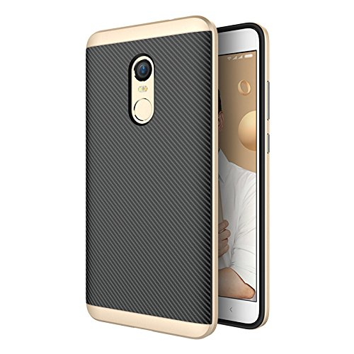 Kapa Hornet II Hybrid Ultra Thin Shockproof Back + Bumper Case Cover for Xiaomi Redmi Note 4  Indian Version    Gold