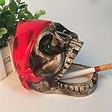 BERTERI Ceramic Ashtray Lovely Cartoon Skeleton Home Funny Gift Send a Boyfriend Gift Creative Personality Trend Ashtray