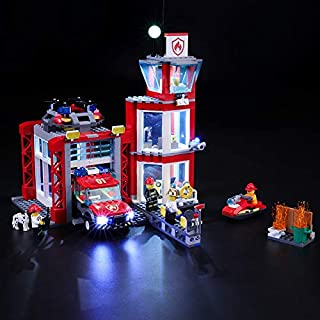 BRIKSMAX Led Lighting Kit for City Fire Station - Compatible with Lego 60215 Building Blocks Model- Not Include The Lego Set