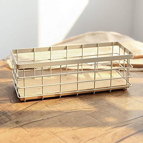 - E Support Vintage Metal Storage Basket Wire Bread Basket Organizer Food Serving Basket for Picnic Coffee Kitchen