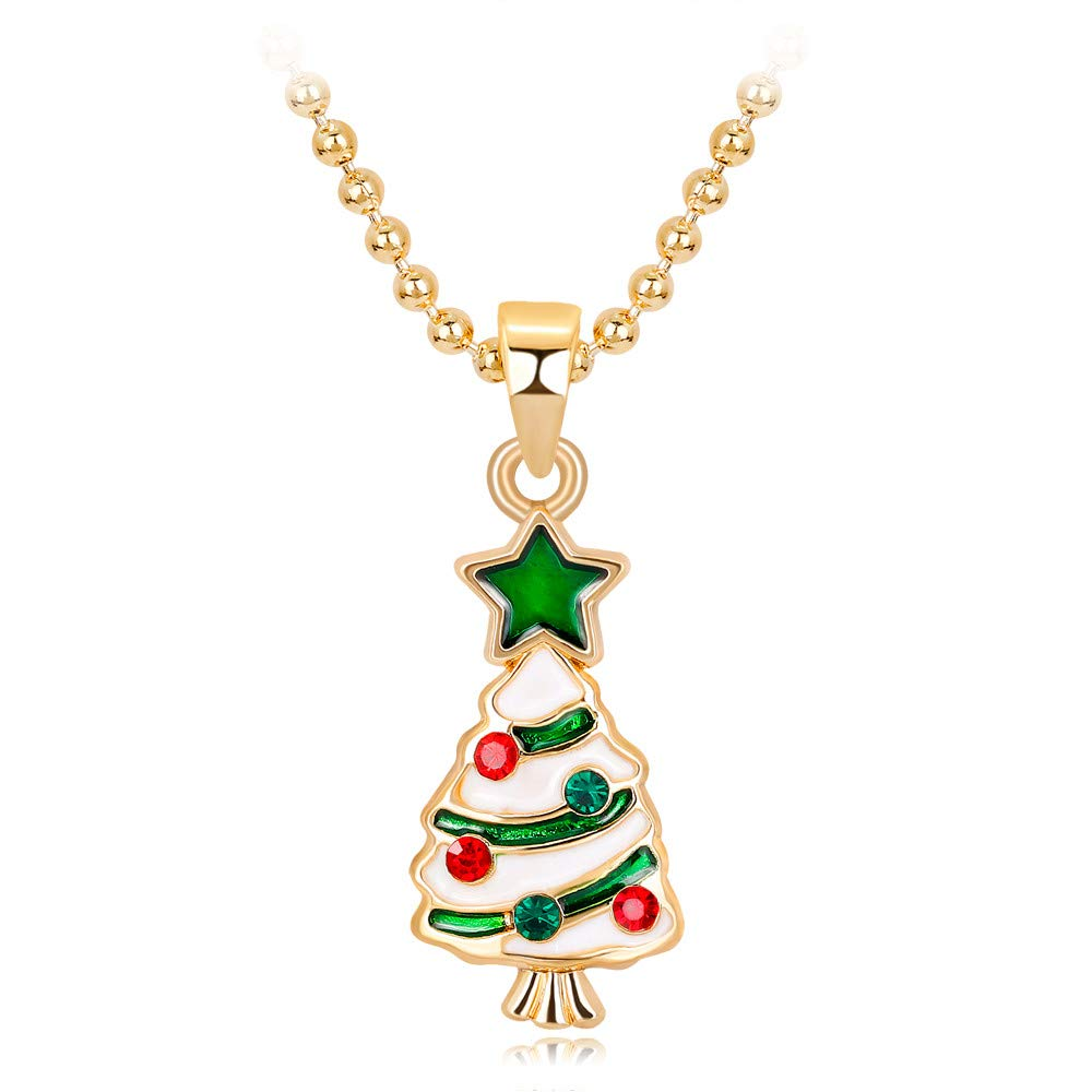 CZYCO Christmas Fashion Women's New Chain Statement Necklace Jewelry Cute Fresh