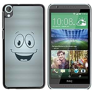 Qstar Arte & diseño plástico duro Fundas Cover Cubre Hard Case Cover para HTC Desire 820 ( Smiley Happy Face Symbol Cartoon Character)