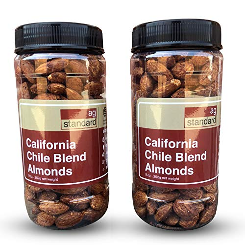 Sweet Chile Almonds by AgStandard - Every Order Donates a Meal to a Family in Need - Bold Jalapeno Smokehouse - Spicy & Hot Favor - Vegan Healthy Nut Snack - Premium Party Starter - 2 pack - 9 oz Jar ()