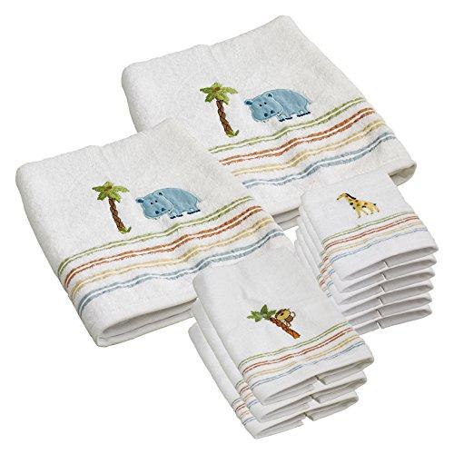 Saturday Knight Limited Safari Animals 11 Piece Grand Towel