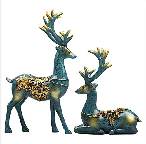 Creative ELK Ornaments Resin Home Decoration Resin Craft Gift Decoration Ornaments/Couple Deer Models/Deer Christmas Ornaments
