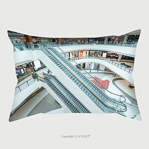 Custom Microfiber Pillowcase Protector Interior Of Modern Shopping Mall 343794926 Pillow Case Covers - Shopping Cleveland Malls