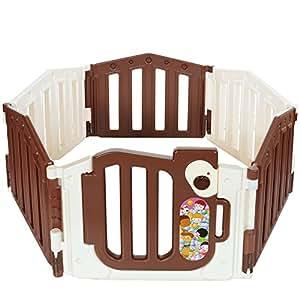 Lcp Kids Parque Bebé Corralito Infantil Plegable con Puerta set 6 piezas 1 barrera de seguridad
