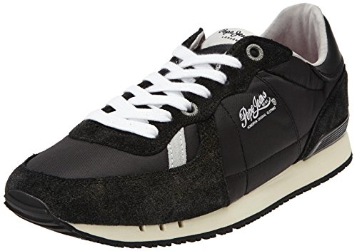 Pepe Jeans London TINKER RETRO - zapatilla deportiva de cuero hombre negro - Schwarz (999BLACK)