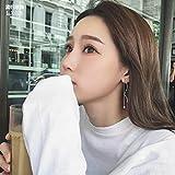 s925 Wave-Shaped Head Style Tassel Ear line Earrings earings Dangler Eardrop Long Diamond-Type Two Women Wearing Dress up Eiji