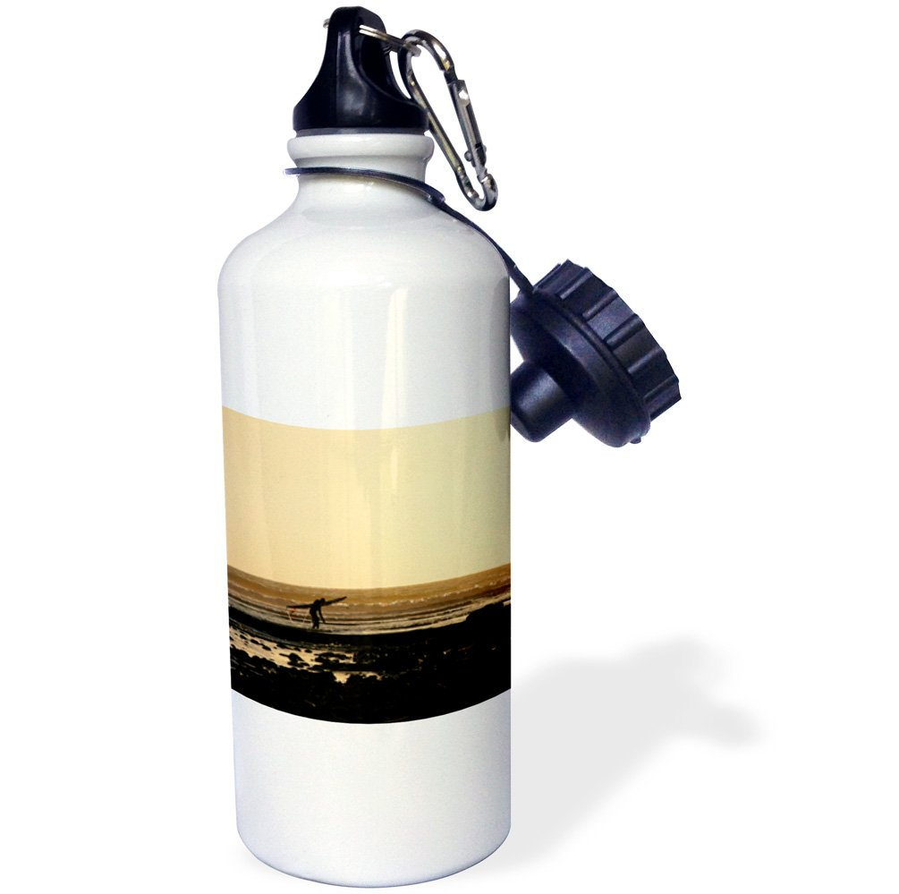 sunset surfing sport Sports Water Bottle 3dRose wb/_158245/_1A day is ending at the beach at Vantura California-city ocean 21 oz surfer White sport Sports Water Bottle