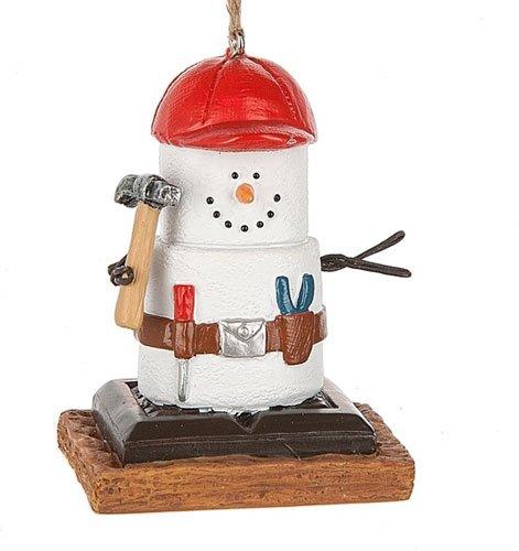 (S'mores Original Carpenter Snowman Ornament)