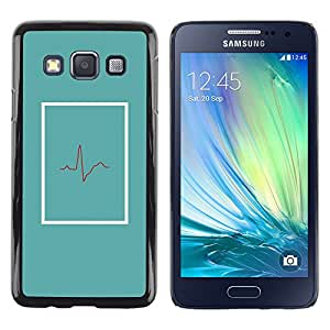 iKiki Tech / Estuche rígido - Doctor Beat Teal Er Life Minimalist - Samsung Galaxy A3 SM-A300