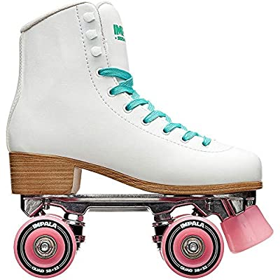 Impala RollerSkates Women's Lace-Up Rollerskates, White/Pink, 5: Office Products