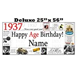 1937 DELUXE PERSONALIZED BANNER by Partypro