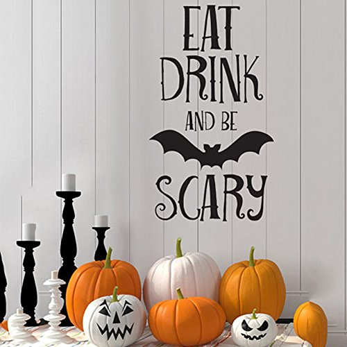 Eeyore Costume Makeup (Smartcoco DIY Creative Halloween Bats Wall Sticker Vivid Wall Decals Kid Room Living Room Bedroom Halloween Decors 30x55cm)