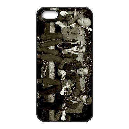 Coldplay 013 coque iPhone 5 5S cellulaire cas coque de téléphone cas téléphone cellulaire noir couvercle EOKXLLNCD22943