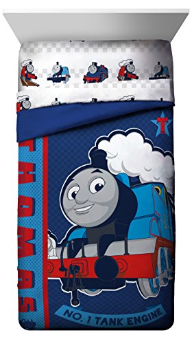 Mattel Thomas the Tank Engine Hot Rod Reversible Twin Comforter